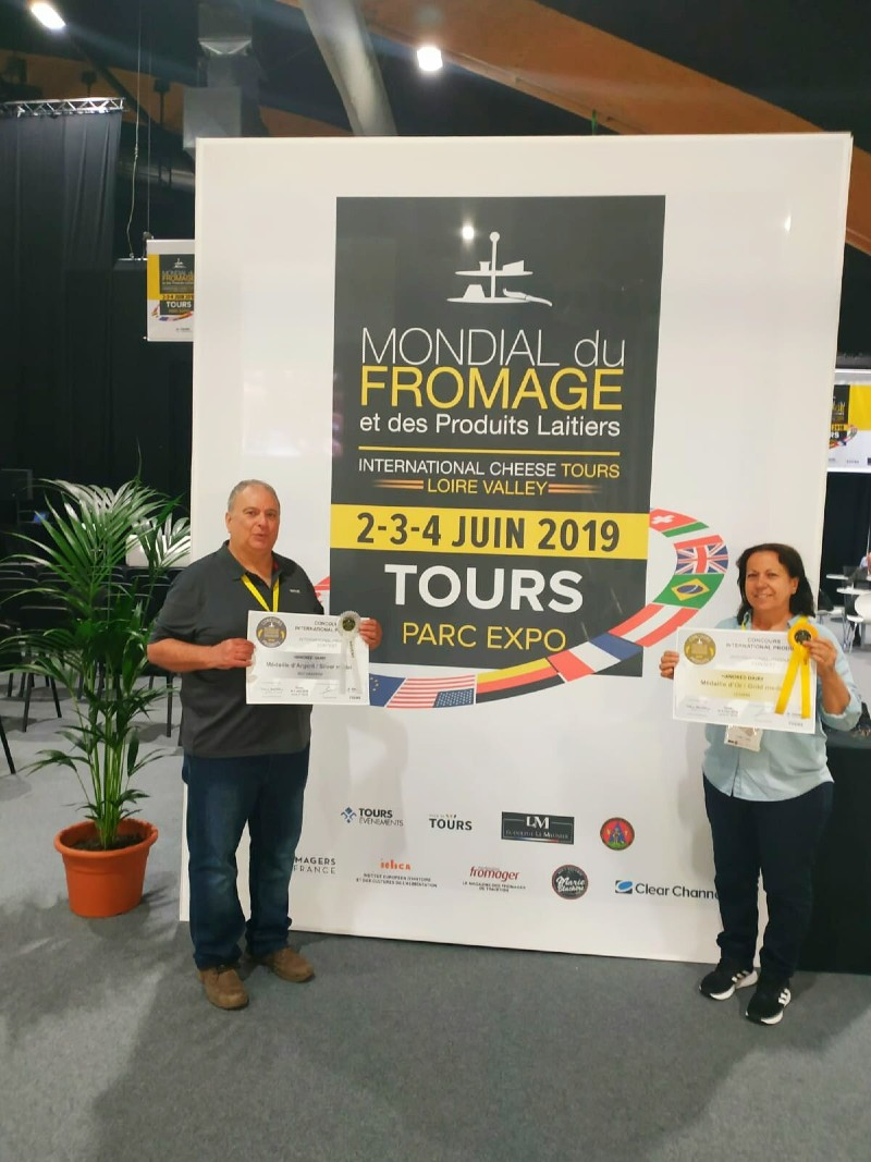 מונדיאל הגבינות 2019 בטור שבצרפת – מחלבת הנוקד זכתה בשתי מדליות זהב וכסף